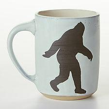 Bigfoot Mug by Cathy Broski (Ceramic Mug)