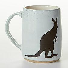 Kangaroo Mug by Cathy Broski (Ceramic Mug)