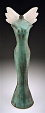 Transcendence (Tall) by Cathy Broski (Ceramic Sculpture)