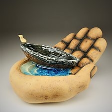 In Your Hand by Cathy Broski (Ceramic Sculpture)