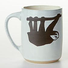 Sloth Mug by Cathy Broski (Ceramic Mug)