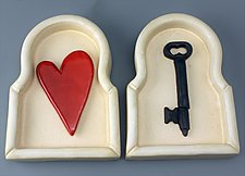 Key to My Heart by Cathy Broski (Ceramic Wall Sculpture)