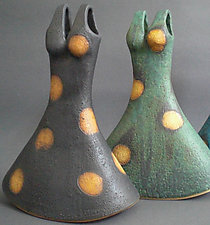 Dottie in Black by Cathy Broski (Ceramic Vase)