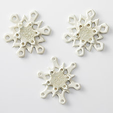 Snowflake Minis by Cathy Broski (Ceramic Wall Sculpture)