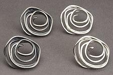 Swirl Earrings by Lori Gottlieb (Silver Earrings)