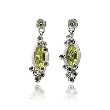 Lemon Citrine Optix Marquis Earrings by Gillian Batcher (Silver & Stone Earrings)