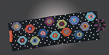 Scattered Circles Cuff by Julie Powell (Beaded Bracelet)