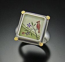 Cardinal Ring by Ananda Khalsa (Gold & Silver Ring)