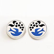 Dove Stud Earrings by Victoria Varga (Silver & Resin Earrings)