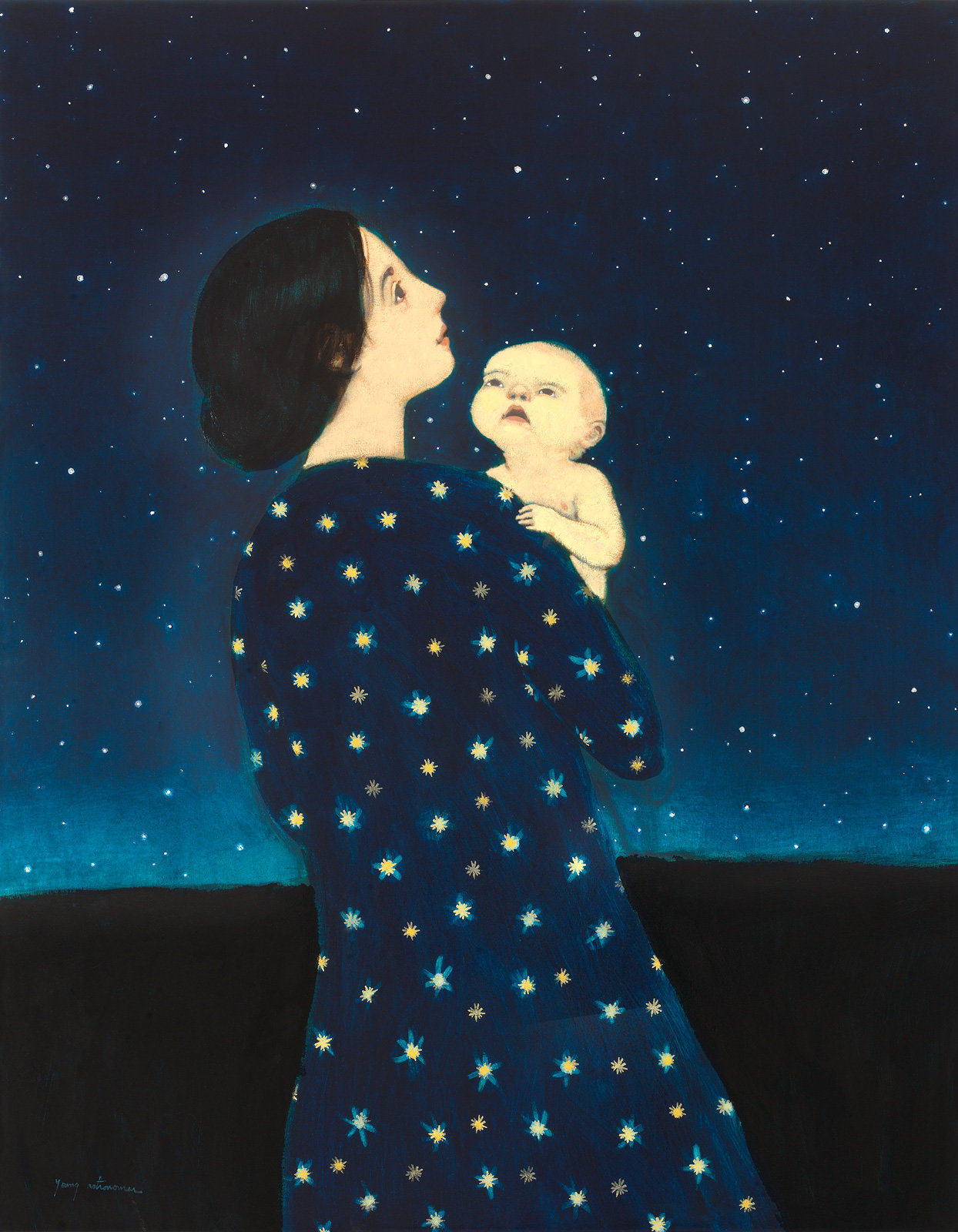 Young Astronomer By Brian Kershisnik Giclee Print