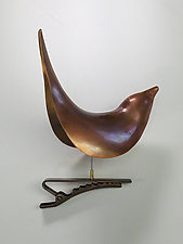 Brass Wren with Clip by Steve Shelby (Metal Ornament)