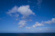 Clouds Over Sea in Hawaii by Jed Share (Color Photograph on Aluminum)