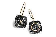 XO Woven Earrings by Linda Bernasconi (Gold & Silver Earrings)