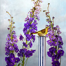 Blue Delphinium by Patricia Barry Levy (Giclee Print)
