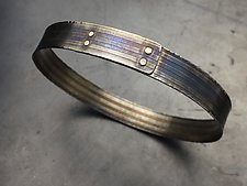 Titanium Stripe Bangle by Tavia Brown (Titanium Bracelet)