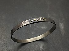 Narrow Titanium Bangle by Tavia Brown (Titanium Bracelet)