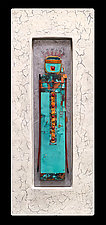 Stone Guardian: Medium Plus by Kara Young (Mixed-Media Wall Sculpture)
