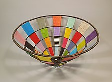 Color Swatch Basket in Multicolors by Sally Prangley (Wire & Paper Basket)