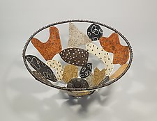 Sticks and Stones Basket by Sally Prangley (Wire & Paper Basket)
