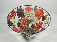 Wildflowers of Japan Basket by Sally Prangley (Wire & Paper Basket)