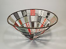 Color Swatch Basket in Grays by Sally Prangley (Wire & Paper Basket)