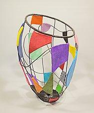 Kaleidoscope Basket by Sally Prangley (Wire & Paper Basket)