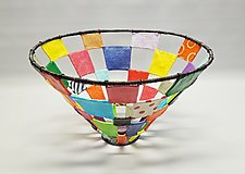 Checkers Basket by Sally Prangley (Wire & Paper Basket)