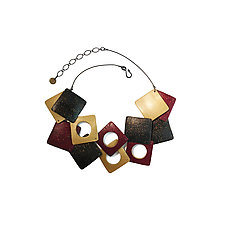 Double Square Necklace by Louise Fischer Cozzi (Polymer Clay Necklace)