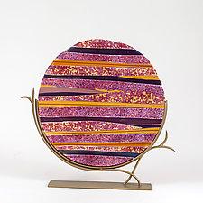 Lavender Field by Varda Avnisan (Art Glass Sculpture)