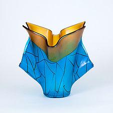 Coastal Sunrise by Varda Avnisan (Art Glass Sculpture)