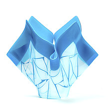 Geometry in Blue by Varda Avnisan (Art Glass Vase)