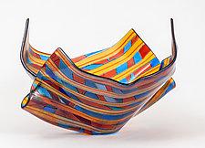 Glass Gondola by Varda Avnisan (Art Glass Sculpture)