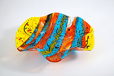 Fluted Summer Bowl by Varda Avnisan (Art Glass Bowl)