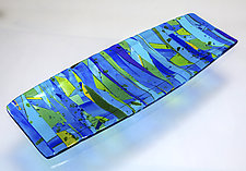 Blue Planet Platter by Varda Avnisan (Art Glass Platter)