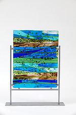 Landscape by Varda Avnisan (Art Glass Sculpture)
