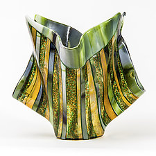 Evergreen Vessel by Varda Avnisan (Art Glass Vessel)