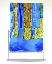 By the Lake by Varda Avnisan (Art Glass Sculpture)