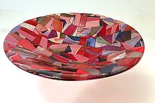 Ruby Bowl by Varda Avnisan (Art Glass Bowl)