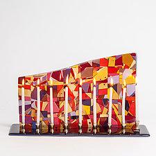 Venice Art Glass Menorah by Varda Avnisan (Art Glass Menorah)