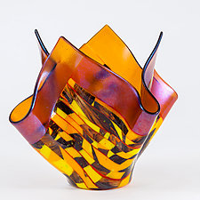 Autumn Art Glass Vessel by Varda Avnisan (Art Glass Vessel)