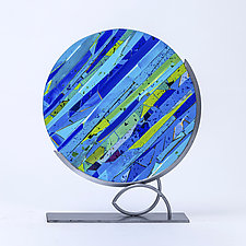 Symphony in Blue by Varda Avnisan (Art Glass Sculpture)