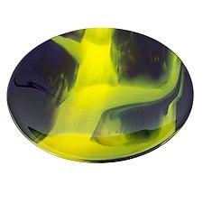Purple Abstract Art Glass Bowl by Varda Avnisan (Art Glass Bowl)