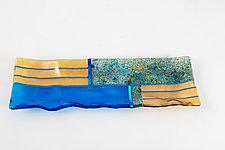 Textured Platter by Varda Avnisan (Art Glass Platter)