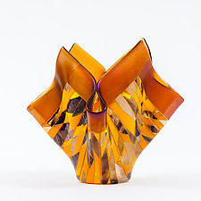 Autumn Art Glass Vessel by Varda Avnisan (Art Glass Vessel)