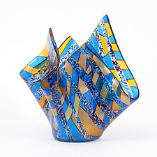 Waves by Varda Avnisan (Art Glass Sculpture)