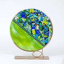 Green Planet Sculpture by Varda Avnisan (Art Glass Sculpture)