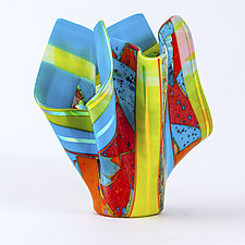 Fiesta Art Glass Sculpture by Varda Avnisan (Art Glass Sculpture)