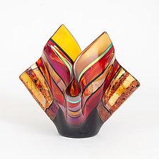 Sonoran Sunset by Varda Avnisan (Art Glass Vessel)