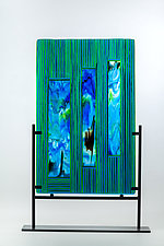 Falling Water by Varda Avnisan (Art Glass Sculpture)