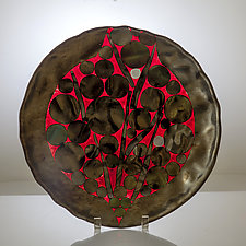 Circles in Red by Varda Avnisan (Glass Bowls)
